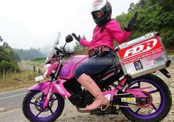 Mouzza Zee, Biker Cewek Siap Turing Jawa-Atambua NTT Jelang Hari Kartini