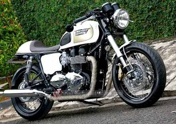 Triumph Bonneville T100 Bergaya Cafe Racer