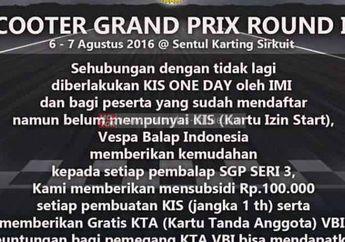 Vespa Balap Indonesia Gelar Balap Awal Agustus 2016 Di Sentul
