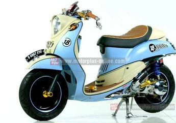 Modif Pelek Kecil Di Yamaha Mio Fino Cafe Racer
