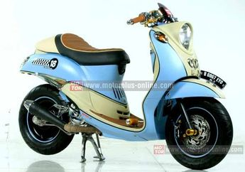 Modif Yamaha Mio Fino Retro Classic