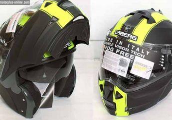 Helm Modular Hitam Berkelir Hijau Dari Caberg, Cocok Bagi Pengendara yang Anti Ribet