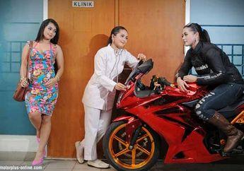 Irfi Prasti Rosfianti, Jalani Profesi Sebagai Model dan Bidan Lebih Nyaman Pakai Motor!