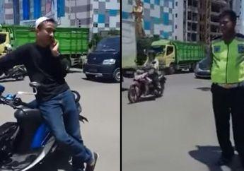 Polantas Sukoharjo Ditantang Berkelahi Biker