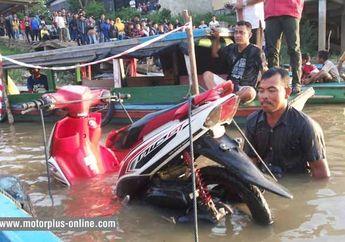 Lebih Dari 24 Jam Direndam di Sungai Batanghari, Yamaha Mio GT Terbukti Masih Tangguh