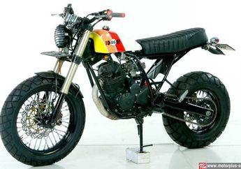 Bahannya Yamaha Scorpio Z Diolah Modifikasi Jadi Yamaha TW200
