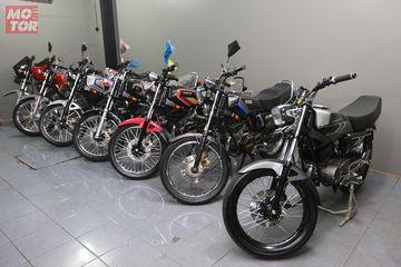 Takjub Pengusaha Bandung Koleksi Puluhan Motor Yamaha Rx