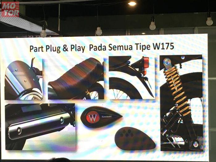 Komponen W175 Cafe yang bisa dipasang di W175 standar