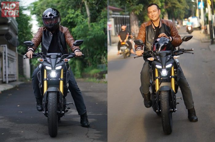 Agus menyukai riding position Yamaha MT-15