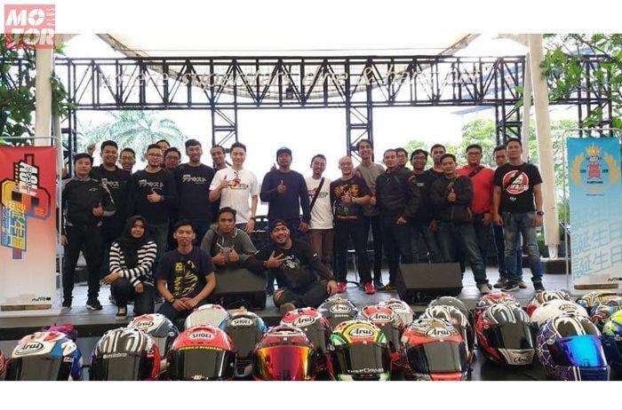 Admin Arai Shoei Lovers Indonesia bersama member yang datang ke acara gathering