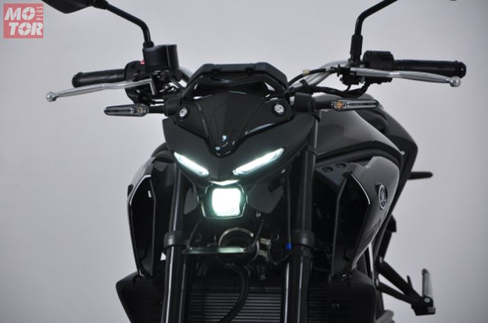 Yamaha MT-25 versi 2020 punya headlamp mirip alien dan shock up side down.