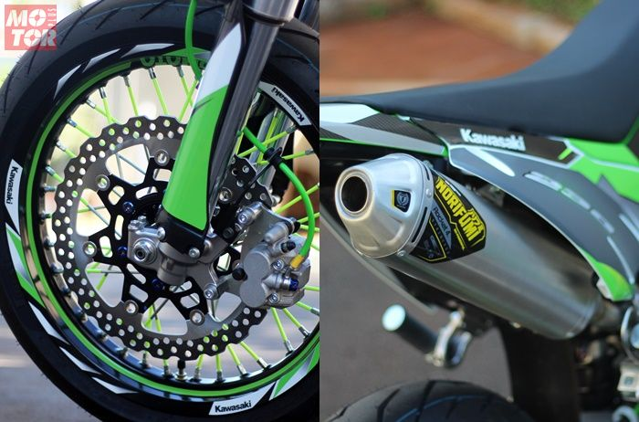 Pelek Takasago Asia dipasang di Kawasaki KLX230