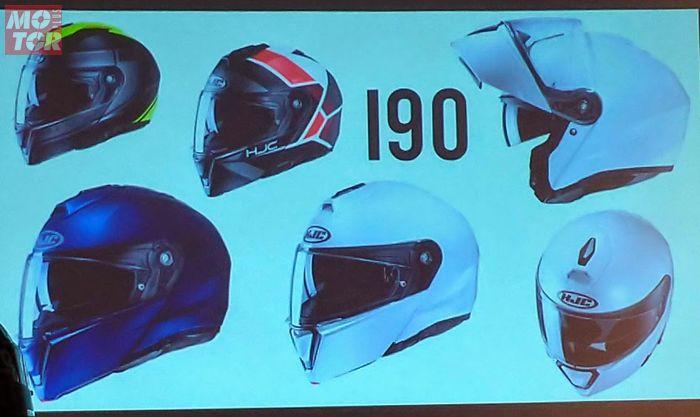 Helm HJC i90, helm modular yang kabarnya akan masuk Indonesia tahun depan.