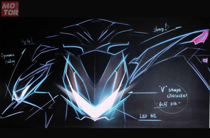 Lampu Honda BeAT 2020 berkonsep V-shaped