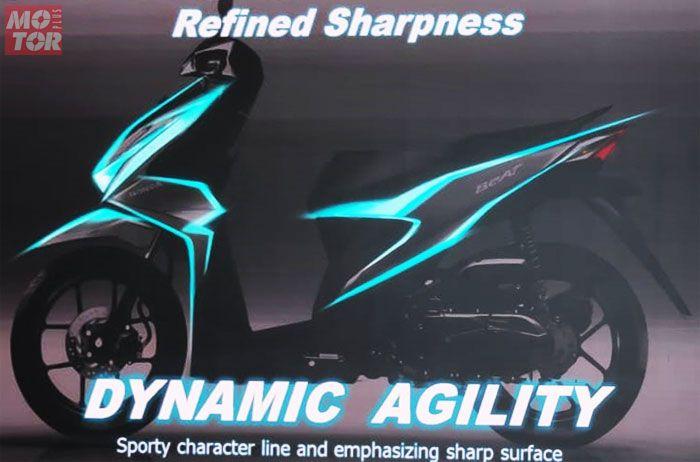 Konsep desain Honda BeAT terbaru adalah Dynamic Agility