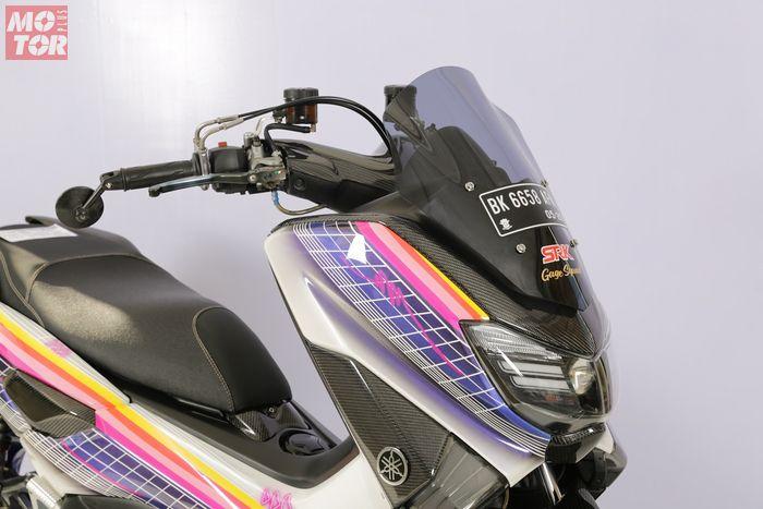 Tampilan depan Yamaha NMAX modifikasi street fashio