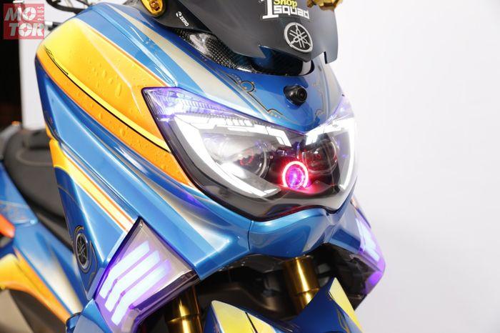 Tampak depan Yamaha NMAX juara master class Customaxi Pontianak
