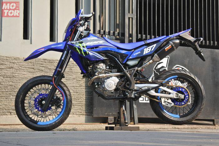 Yamaha WR155 garapan Caos Custom, kaki-kaki gambot plus arm Aprilia!