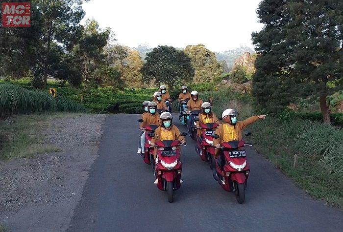 Perjalanan eksplorasi ke wilayah Bandung Selatan oleh komunitas Generasi 125 pada Rabu (14/10), berjalan lancar.