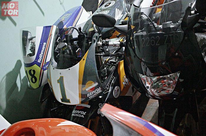 Moriwaki MD250 sampai NSR250 tersimpan di Suto Garage