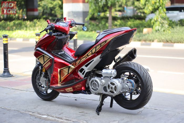 Modifikasi Yamaha Aerox 155 garapan FAT Motorsport.