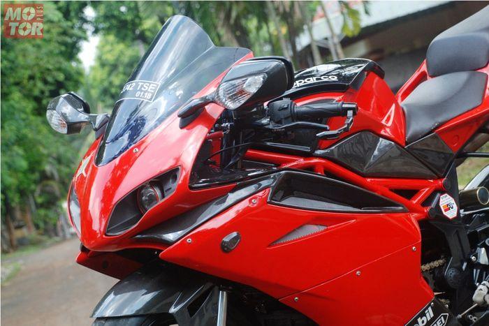 Minerva Megelli 250 RV milik Wahab Abdullah Gustab Fahrudzan yang dimodifikasi mirip Ducati 848