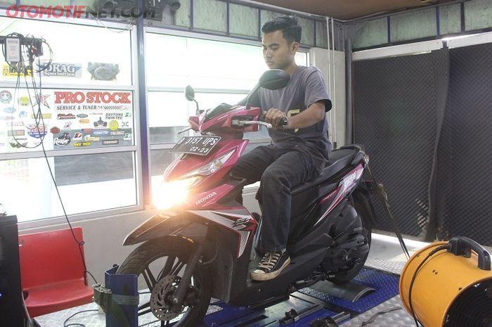 Pengetesan knalpot racing untuk Honda BeAT