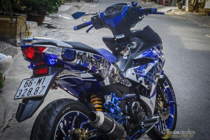 Yamaha MX King bertampang sangar.