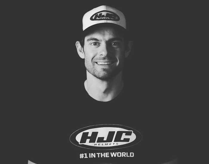 Cal Crutchlow tahun baru ganti helm baru pakai HJC