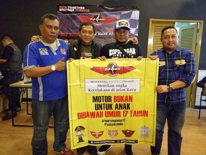 Kopdar Gabungan Nmax riders Bogor, Nmax-xmax Riders Cikarang dan Nmax Xmax Riders Bekasi kampanye MOTOR BUKAN UNTUK ANAK DIBAWAH UMUR 17 TAHUN
