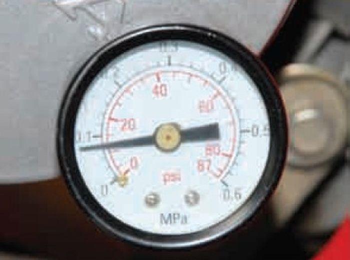 Oli encer, tekanan 0,080 MPa atau 11,6 psi