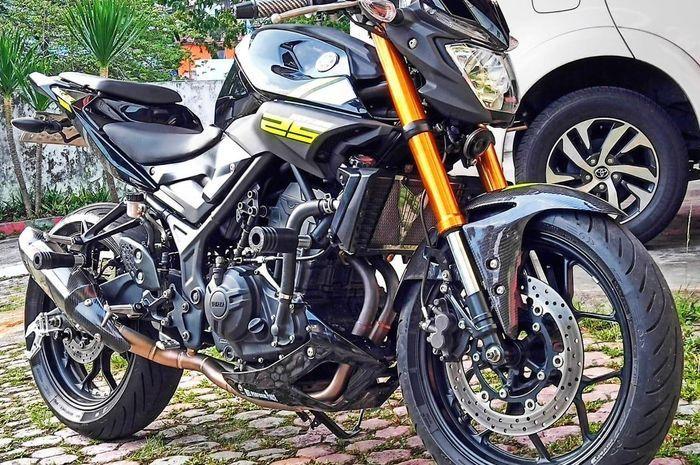 Yamaha MT-25 pakai upside down R25
