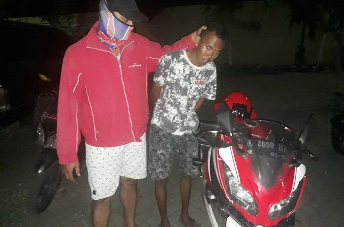 Pelaku maling motor Kawasaki Ninja 250 FI dibekuk di Probolinggo
