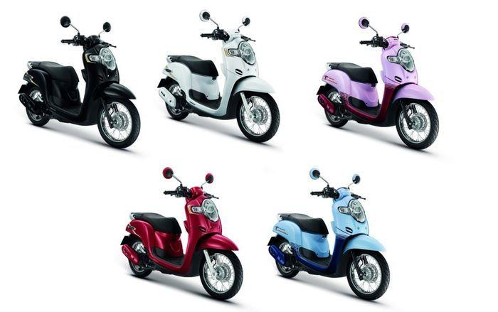 Warna Honda Scoopy Thailand versi pelek jari-jari