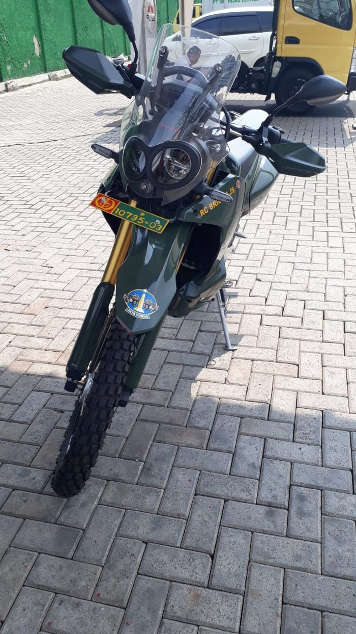 TNI pakai motor Honda CRF250L Rally