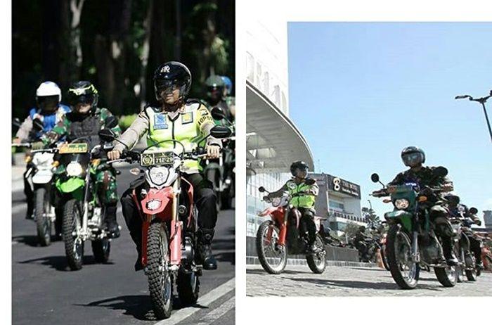 Honda CRF150L jadi motor dinas Polisi Surabaya