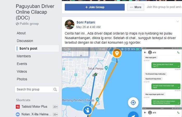 Seorang driver ojol di Cilacap dapat orderan dari Napi yang niat kabur