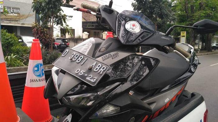 Yamaha Aerox beserta pengendaranya diamankan karena menggunakan sirine