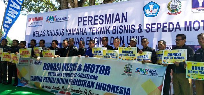 Dukung Pengembangan Pendidikan, Yamaha Resmikan Kelas Khusus Yamaha di Sulawesi Selatan
