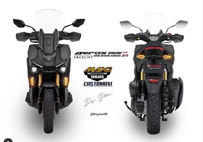 Sokbreker upside down dan ban dual purpose, cocok kalau disebut Yamaha Aerox Adventure