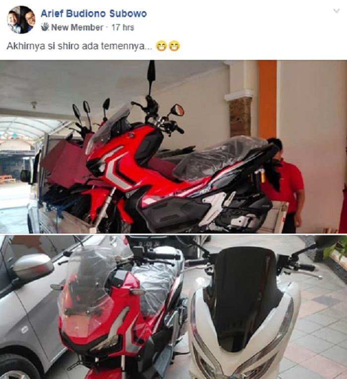 Salah satu konsumen yang sudah menerima motor Honda ADV 150