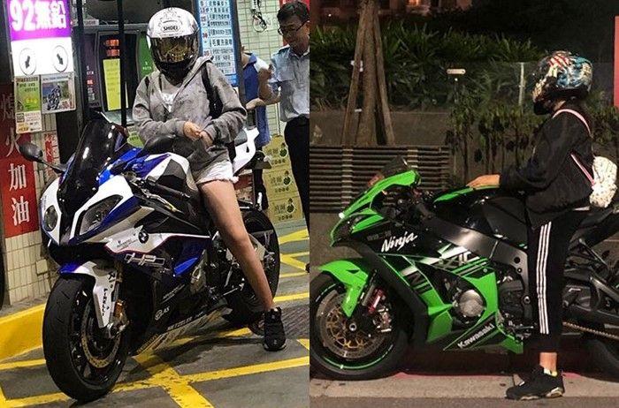 Annie Chuang dan BMW HP4 serta Kawasaki ZX-10R