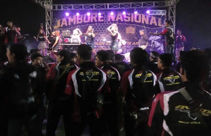 Hiburan di acara Jamnas ke-2 ARCI di Bandung, Jabar.