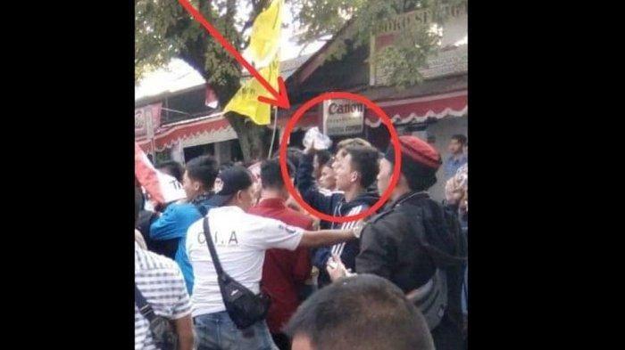 Pria pelempar bensin di unjuk rasa OKP Cipayung Plus Cianjur