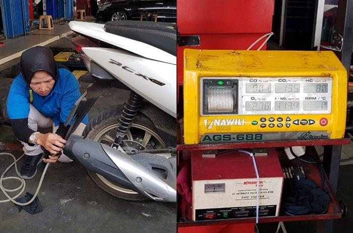Honda PCX ikut tes emisi menggunakan mesin dari Nawilis