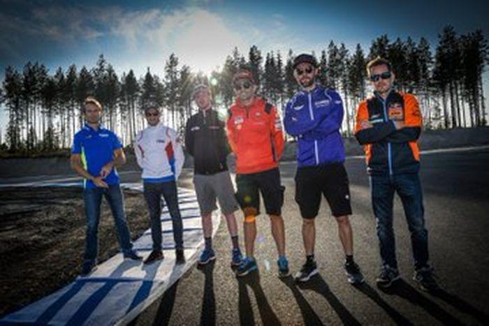 Sirkuit baru MotoGP KymiRing di Finlandia dijajal perdana oleh 6 test rider tim MotoGP pabrikan