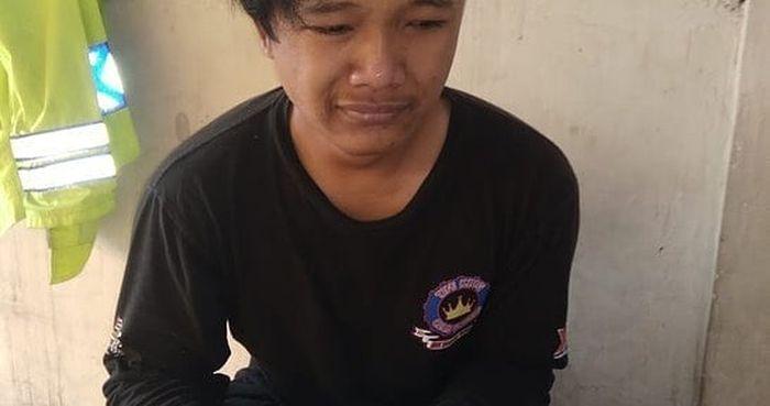 AP pengendara Yamaha RX-King yang ditendang polisi