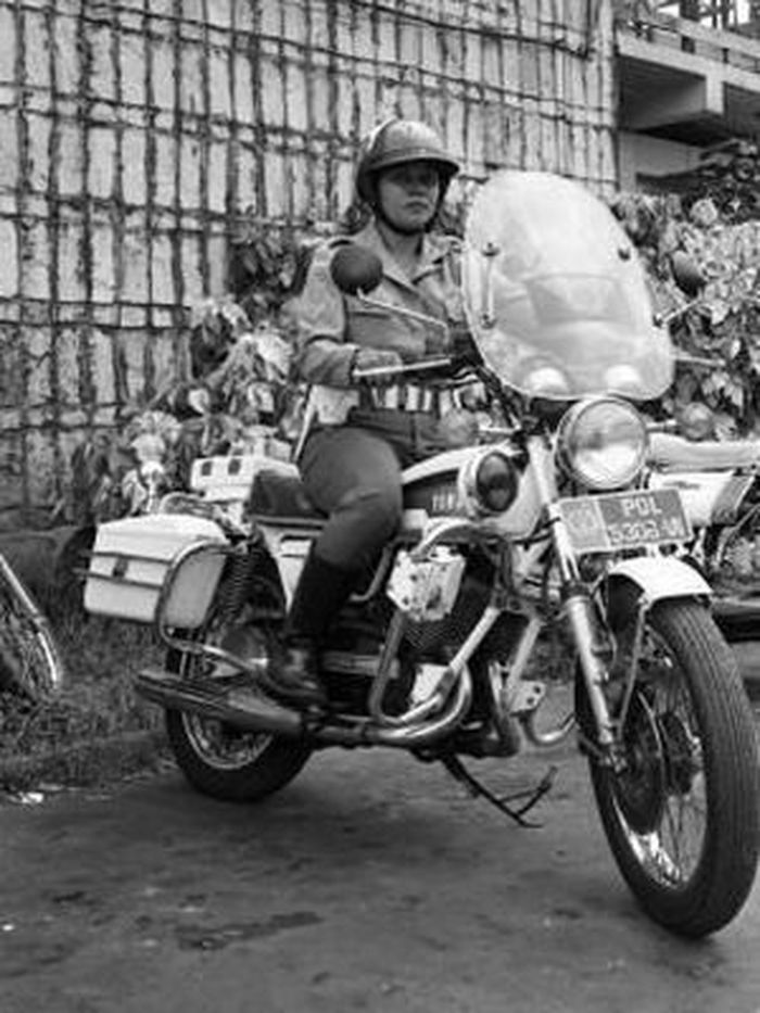 BM Polwan pertama kali gunakan moge Yamaha RD350 pada tahun 1981