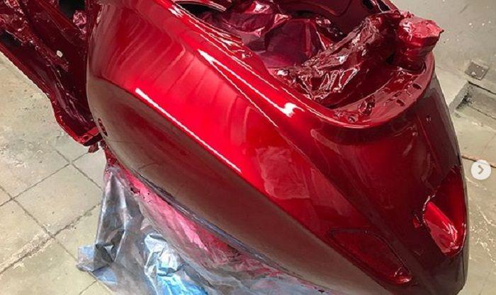 Berapa biaya cat Vespa matic dengan warna candy?