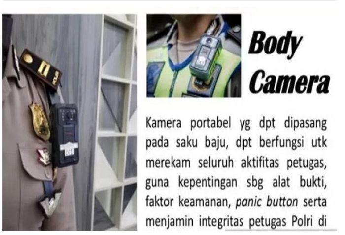 Body Camera alat pelindung polisi lalu lintas
